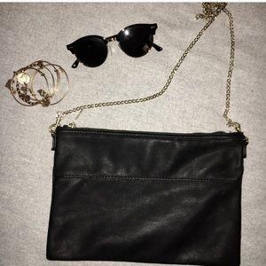 H&M Black Leather Shoulder Bag (NWOT!!)
